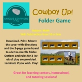 Cowboy Up! Subtraction from 10 - File Folder Game