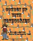 Cowboy Up with Categories a speech language therapy sorting activity