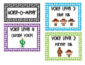 "Cowboy Voice Levels ""Noise-o-Meter"" Chart"