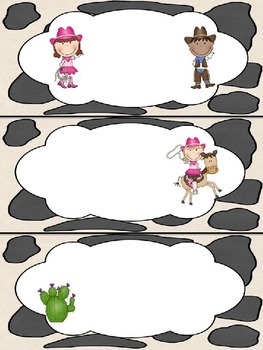 Cowboy Western Classroom Theme - Editable