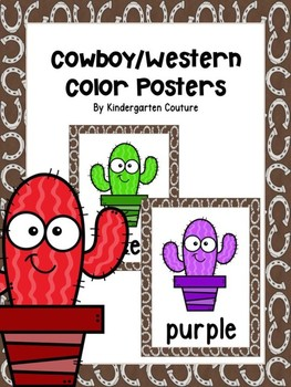 Cowboy/Western Color Posters