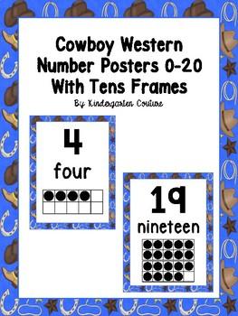Cowboy/Western Number Posters 0-20
