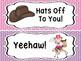 Cowboy/Western Theme Behavior Clip Chart