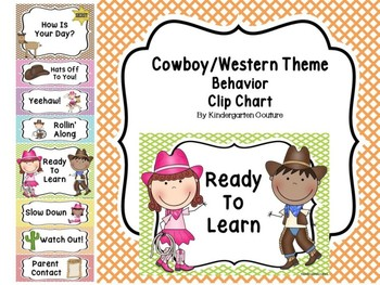 Cowboy/Western Behavior Clip Chart
