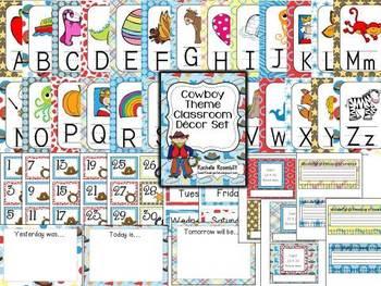 Cowboy Western Theme Classroom Decor Set