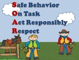 Cowboy Western Theme Classroom Decor and Behavior Management