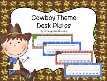 Cowboy/Western Theme Desk Plates