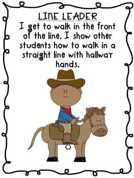 Cowboy Western Theme Themed Classroom Class Jobs