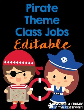 Pirate Theme Themed Classroom Class Jobs