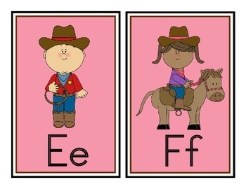 Cowboy Western Theme Word Wall Headers