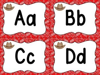 Cowboy/Western Word Wall