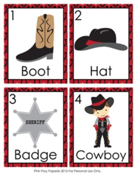 Cowboy Western Write the Room Activity