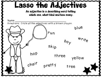 Cowboy Literacy Worksheets