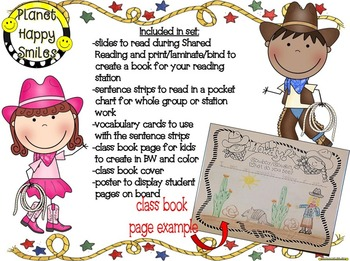 Cowboy Writing Activity ~ Cowboy, Cowgirl, What do you see? class book writing