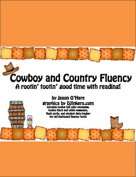 Cowboy and Country DIBELS Fluency and Reading Practice
