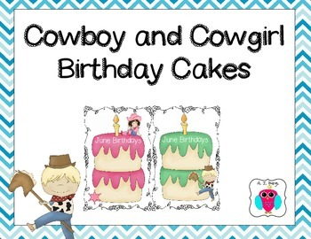 Cowboy and Cowgirl Birthday Cakes