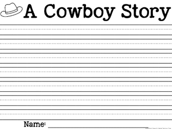 Cowboy and Cowgirl Craft and Writing Activities