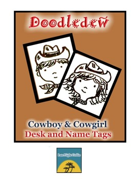 Cowboy and Cowgirl Desk and Name Tags