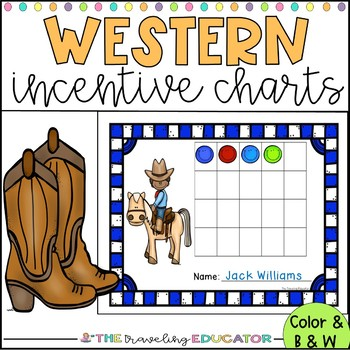 Incentive Charts with a Cowboy Theme