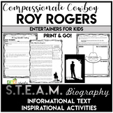Cowboy and Western Reading Comprehension Passage and Worksheets | Roy Rogers