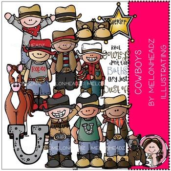 Melonheadz: Cowboys clip art