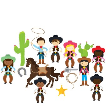 cowboy clipart wild west clip art cowgirls horse lasso cactus rh teacherspayteachers com wild west pictures clip art wild west clip art free