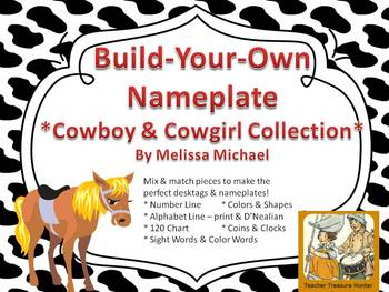 Cowboy or Cowgirl Themed Desktag Nameplate Collection - Build Your Own!