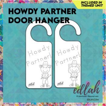 Cowboy/Cowgirl Door Hanger Activity