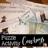 Cowboys Reading and Activity for Texas History 7th Grade