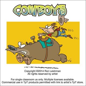 Cowboys Cartoon Cliipart