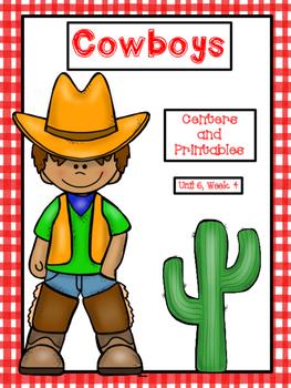 Cowboys, Centers and Printables, 2nd Grade