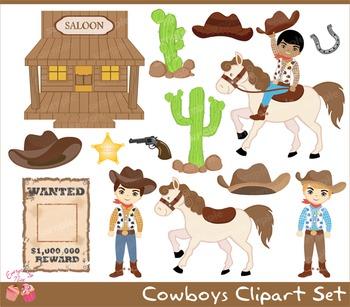 Cowboys Clipart Set