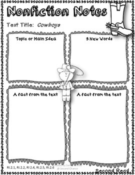 Cowboys Close Reading 2nd Grade Reading Street Unit 6 Story 4