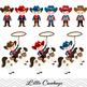 Cowboys Digital Clip Art, Wild West Cowboy Clipart, Cowboys Clipart, 00185