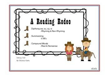 Cowboys - Dipthongs ow, ou, oy, oi and Other Literacy Activities