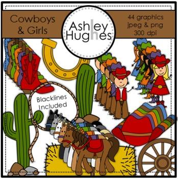 Cowboys & Girls Clipart {A Hughes Design}