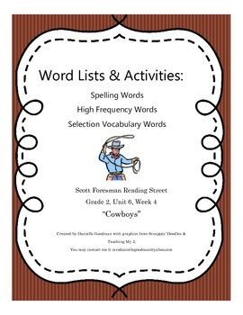 Cowboys Grade 2 Reading Street Common Core 2013