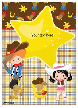 Cowboys Binder covers Editable!