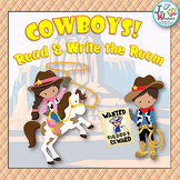 COWBOYS Write the Room Cowboys Literacy Activities in a Western Theme
