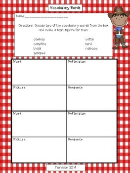 Cowboys Reading Street Reading Comprehension Activity Packet