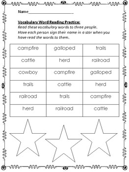 Cowboys:  Second Grade Reading Street Supplemental Packet