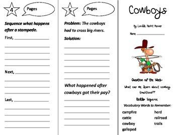 Cowboys Trifold - Reading Street 2nd Grade Unit 6 Week 4