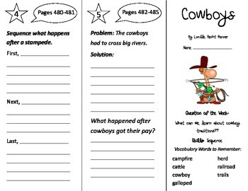 Cowboys Trifold - Reading Street 2nd Grade Unit 6 Week 4