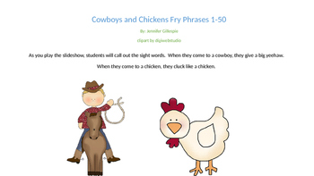 Cowboys and Chickens Fry Phrases 1-50