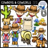 Cowboys and Cowgirl Clip Art