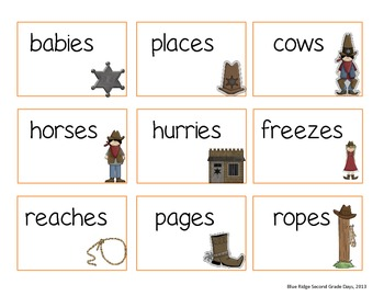 Cowboys and Cowgirls: Making Plural Words Adding -S, -Es, and Y To -Ies