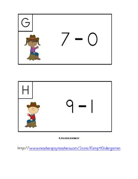 Cowboys and Cowgirls Subtract the Room (Minuends to 10)