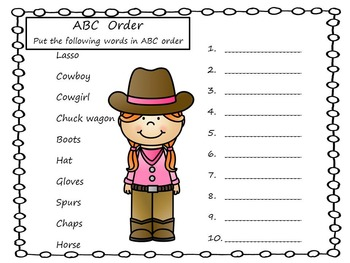 Cowboys and Cowgirls  ~  Yippee- Yay!    25 pgs. Common Core Activities