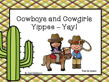 Cowboys and Cowgirls  ~  Yippee- Yay!    25 pgs. Common Co