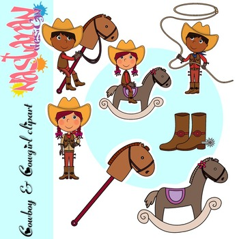 Cowboys and girls Clipart